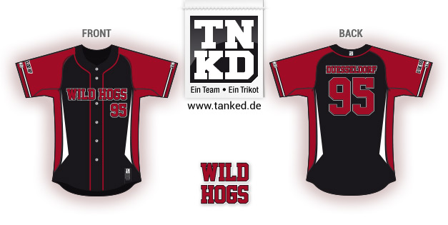 Wild Hogs (Baseball) - Jersey Pop-Up  von TANKED