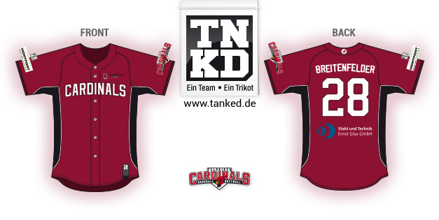 Feldkirch Cardinals (Baseball) - Jersey Pop-Up  von TANKED